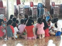 Trauma Healing Korban Banjir di Yaskum Indonesia